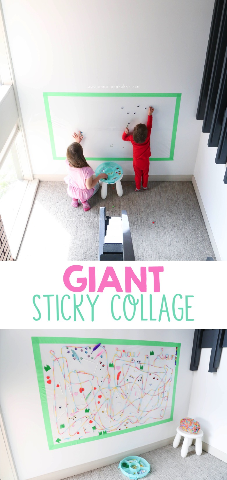 Giant Sticky Collage | Mama Papa Bubba Blog