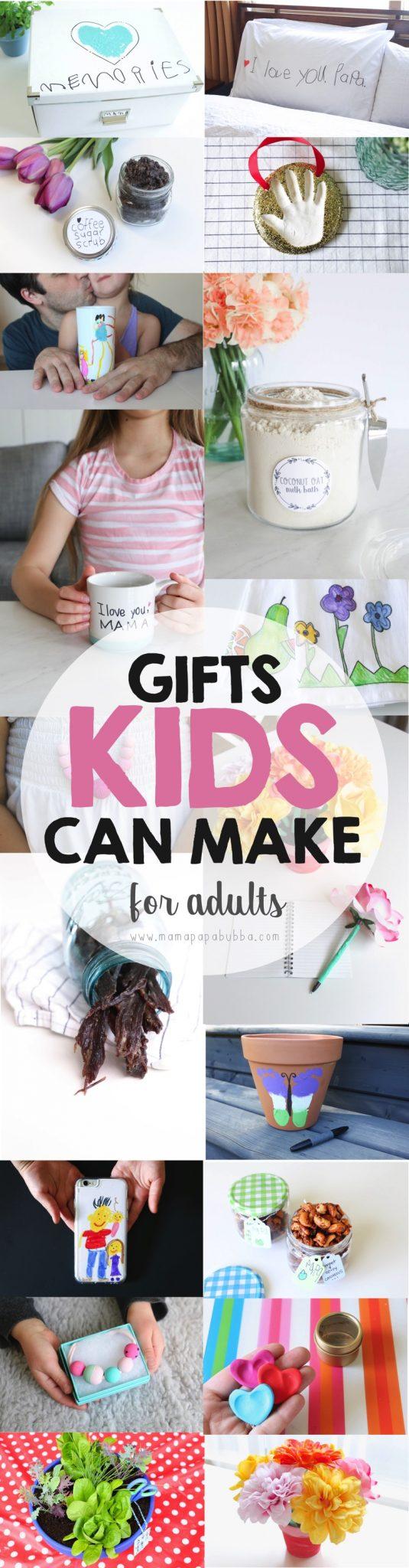 Creative Gifts Kids Can Make for Adults | Mama Papa Bubba