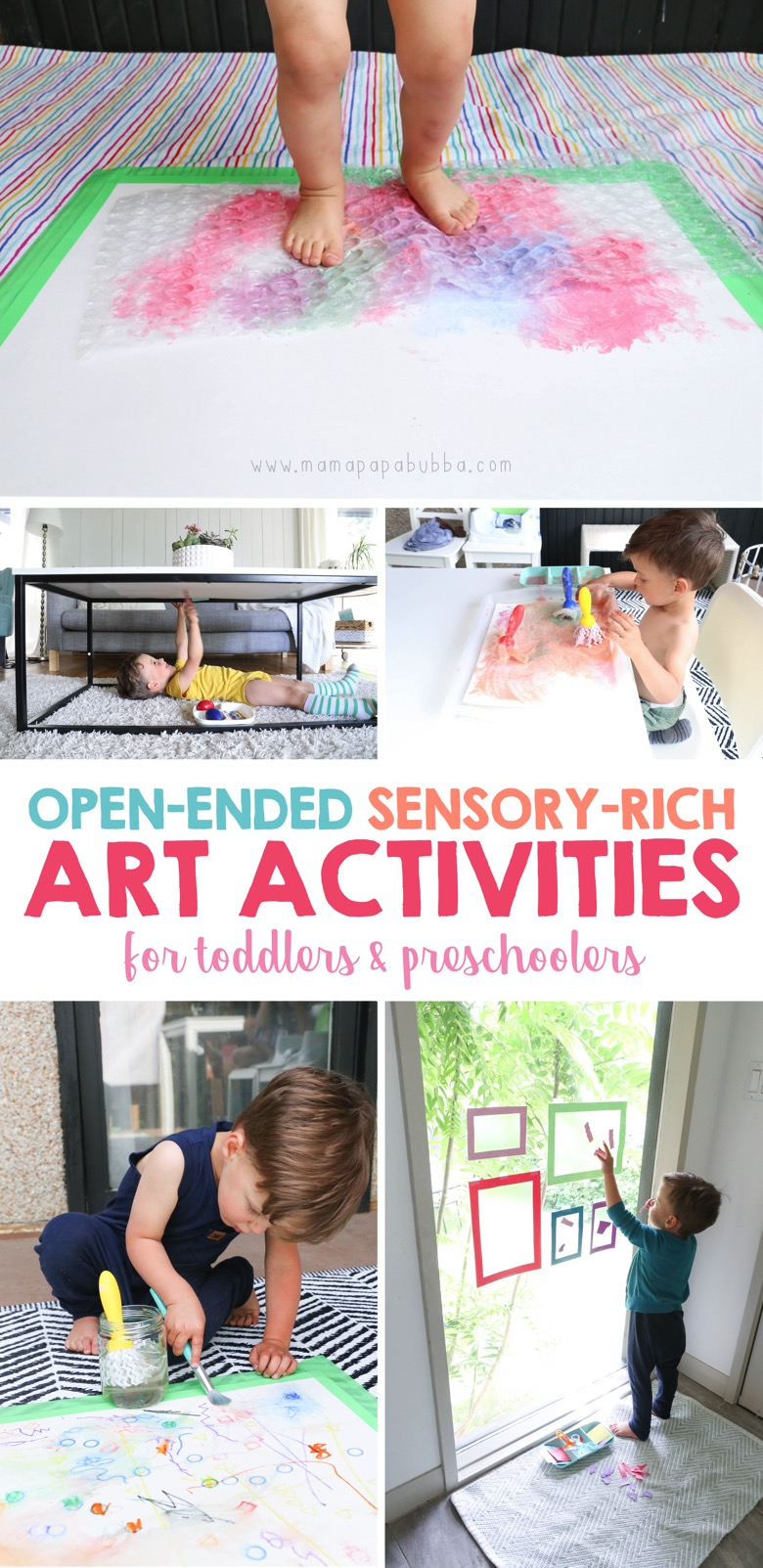 Open Ended Sensory Rich Art Activities for Toddlers and Preschoolers | Mama Papa Bubba
