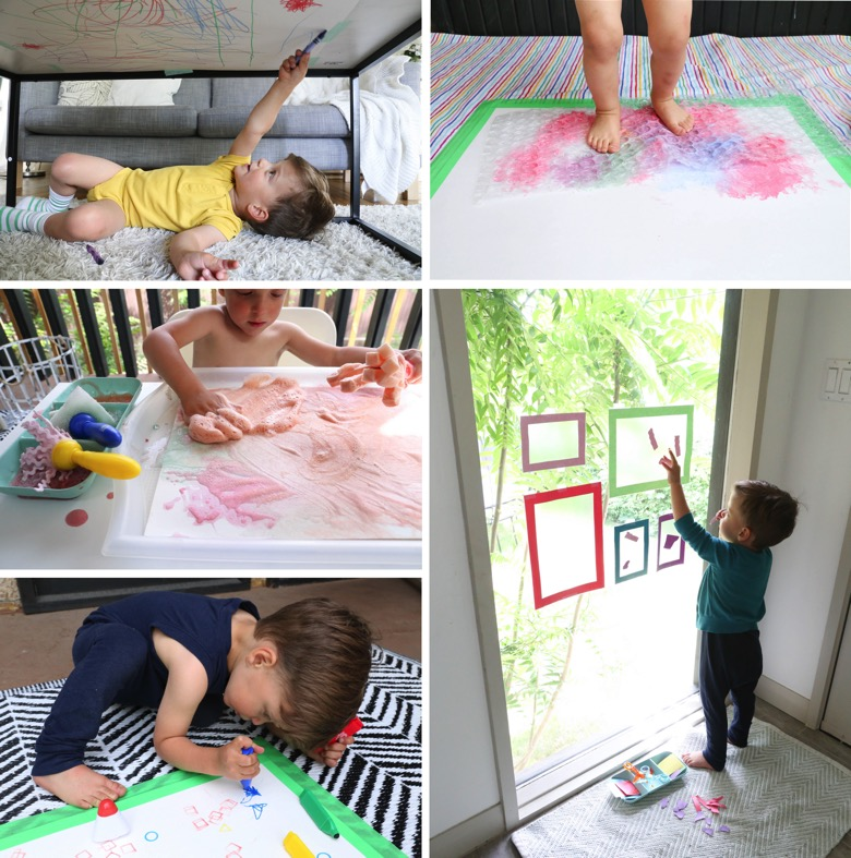 Open Ended Art Activities for Toddlers | Mama Papa Bubba