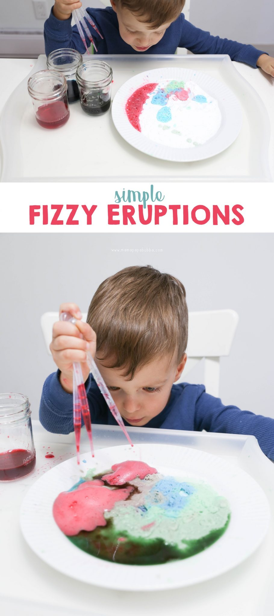 Fizzy Eruptions with Baking Soda and Vinegar | Mama Papa Bubba