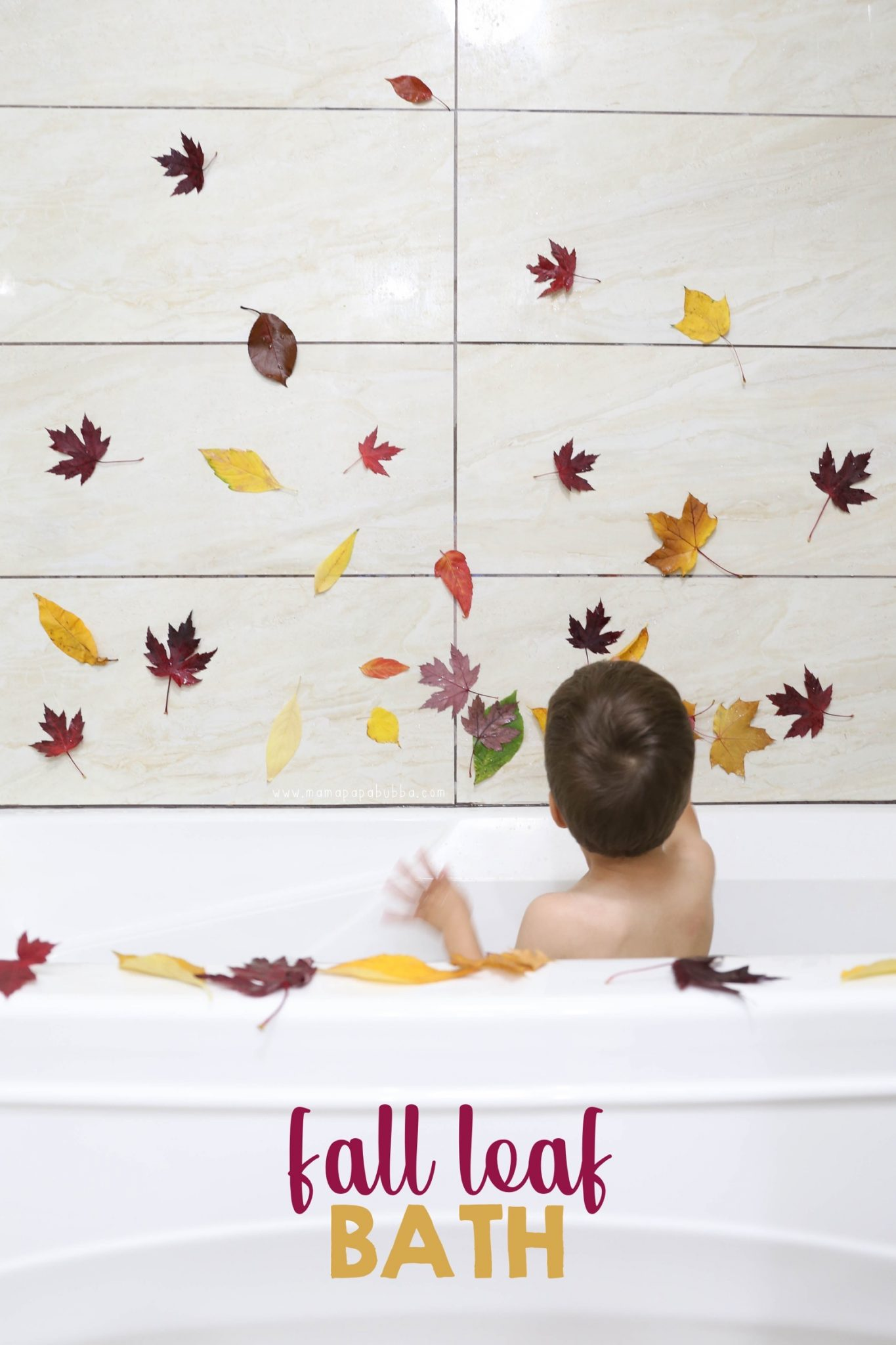Fall Leaf Bath | Mama Papa Bubba