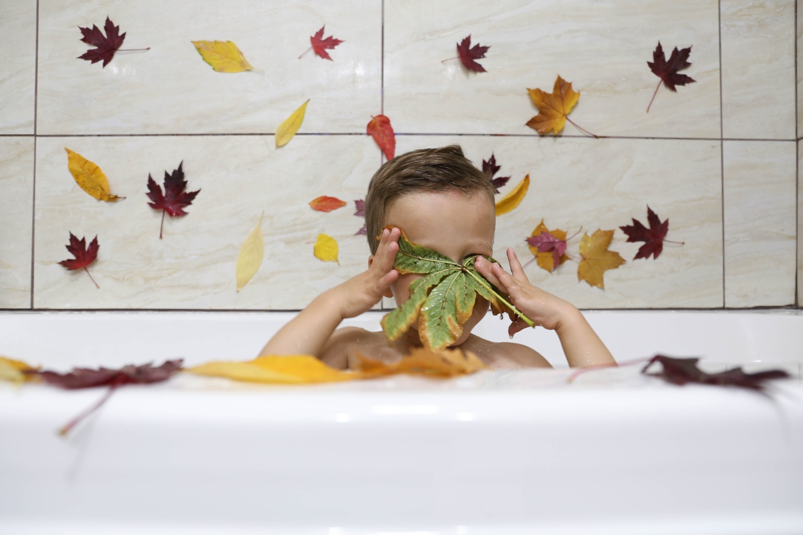 Fall Leaf Bath | Mama.Papa.Bubba.