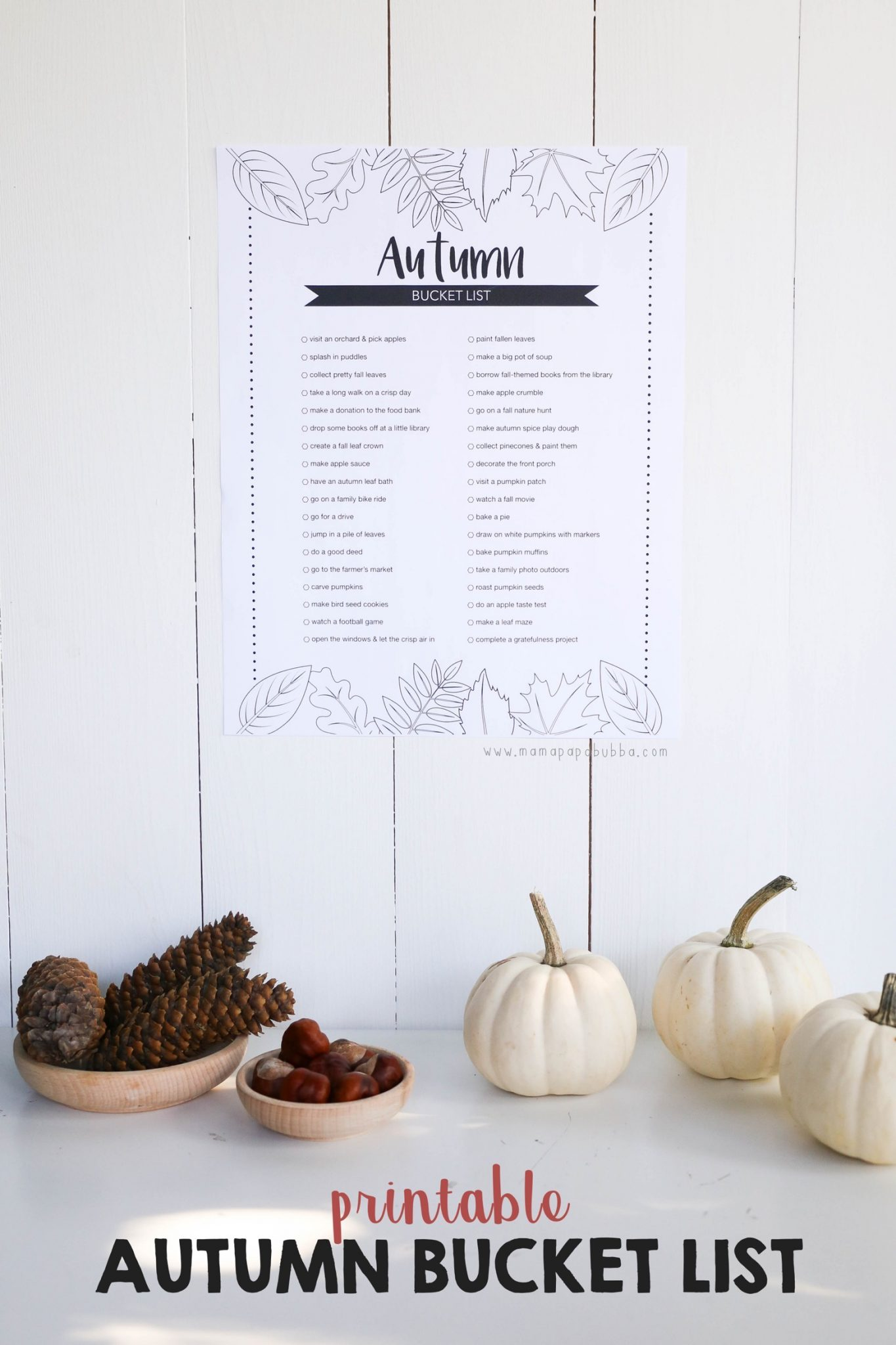 Printable Autumn Bucket List | Mama Papa Bubba