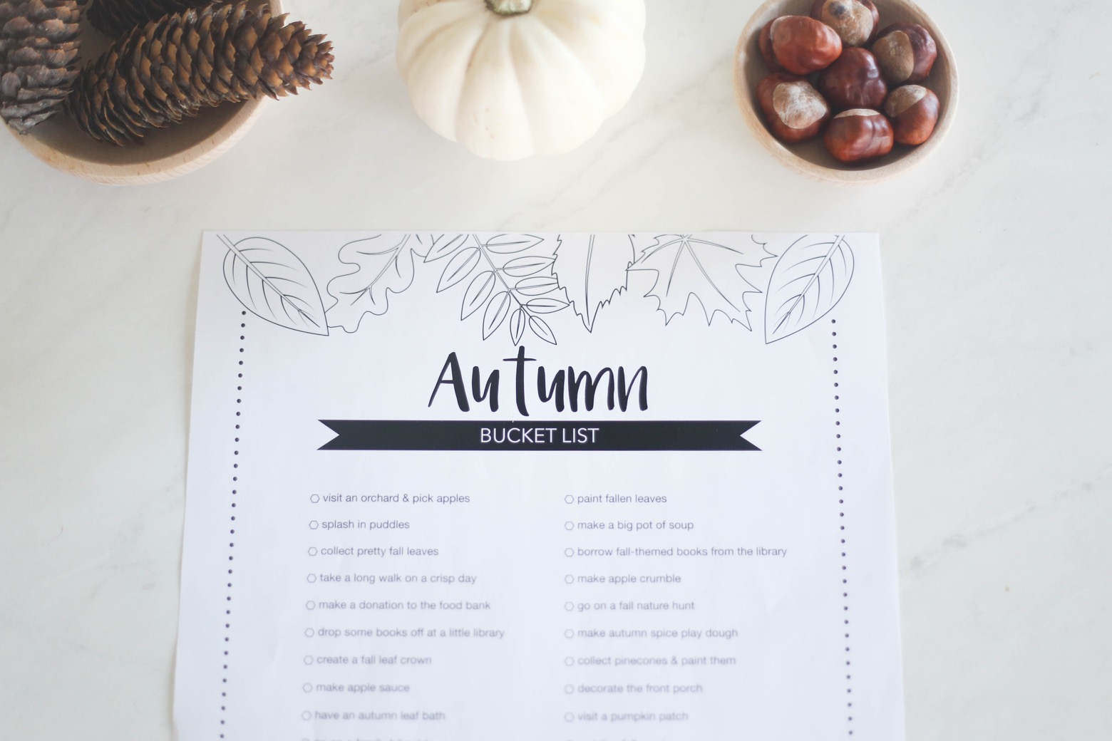 Printable Autumn Bucket List | Mama.Papa.Bubba.