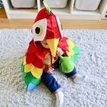 Easy DIY No-Sew Parrot Costume