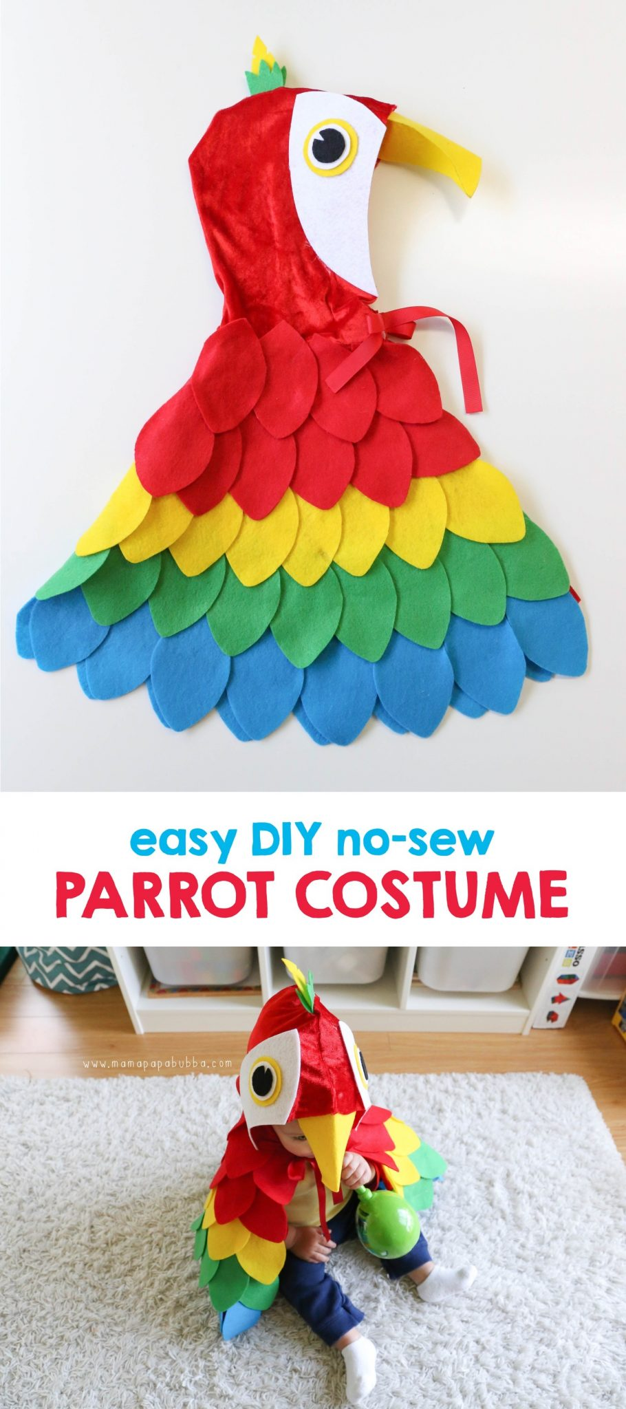 Easy DIY Parrot Costume | Mama Papa Bubba