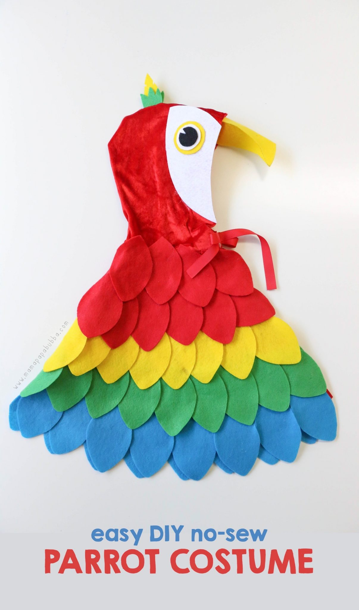 Easy DIY No Sew Parrot Costume | Mama Papa Bubba