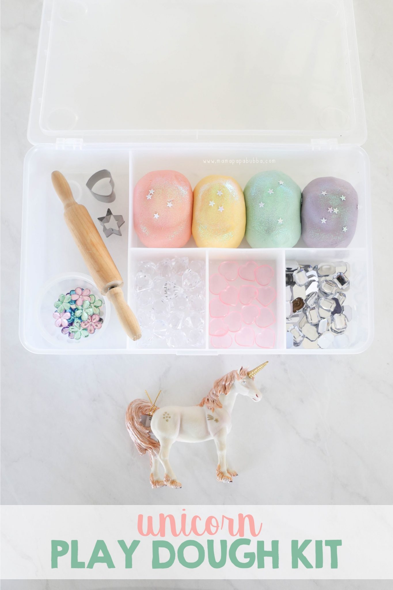 Unicorn Play Dough Kit | Mama Papa Bubba