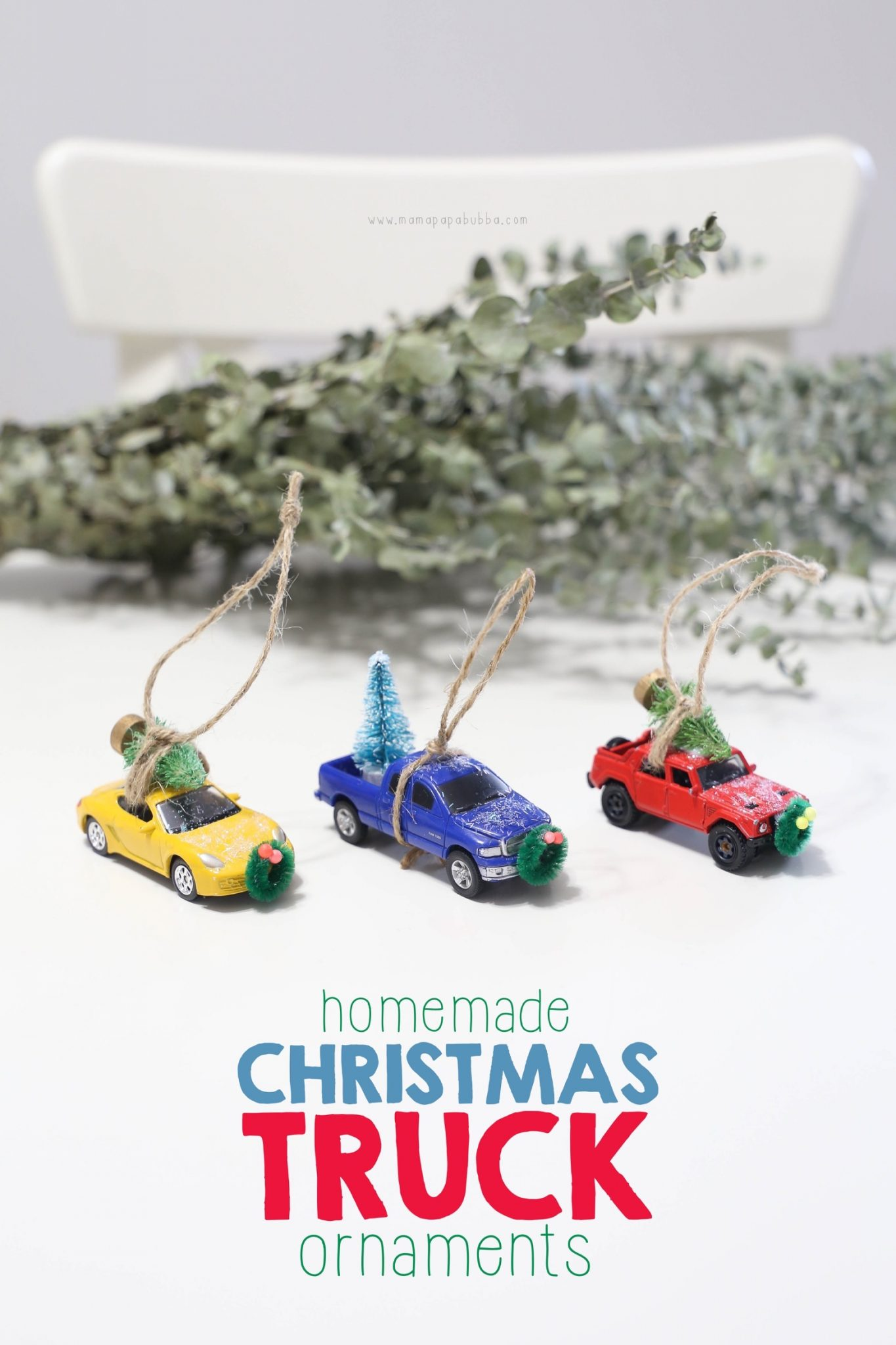 Homemade Christmas Truck Ornaments | Mama Papa Bubba