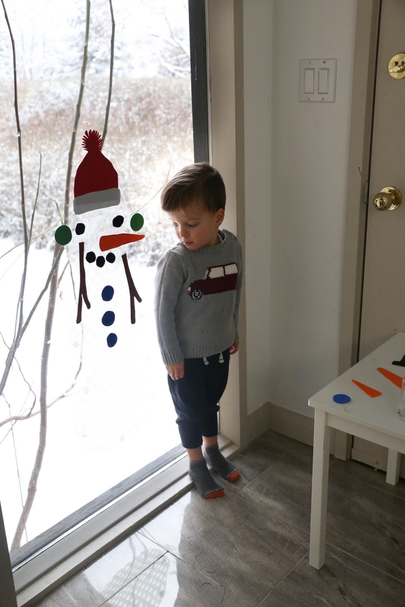 Window Snowman Activity