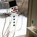 Decorate a Window Snowman Activity