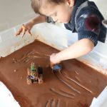 Muddy Monster Truck Derby Sensory Bin
