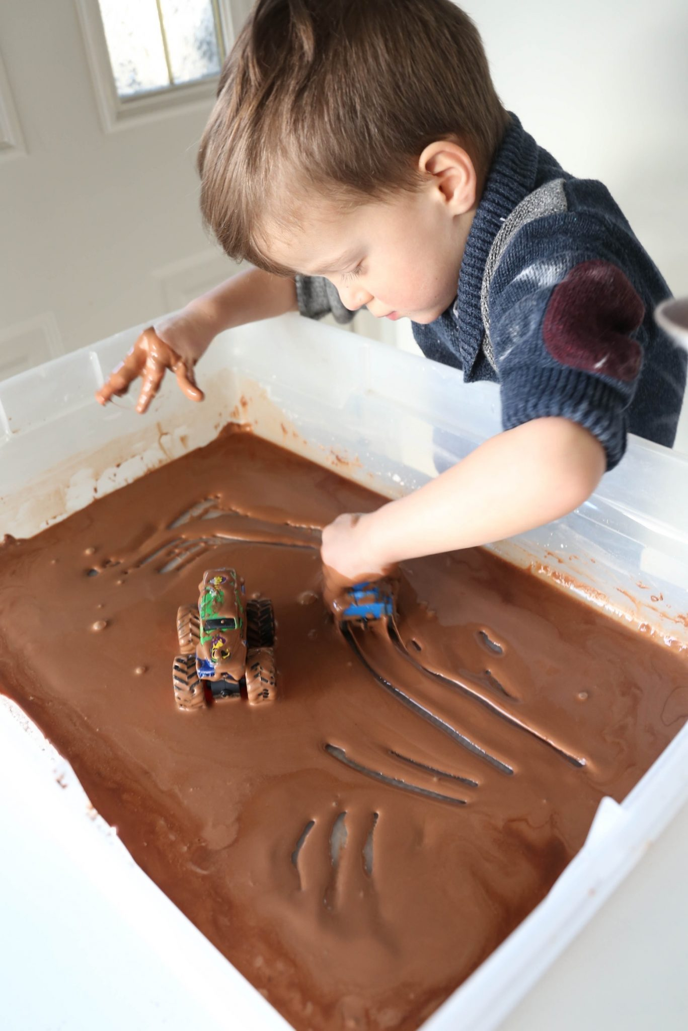 Muddy Monster Truck Derby Sensory Bin Mama Papa Bubba