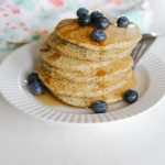 Whole Wheat Vegan Lemon Poppy Seed Pancakes