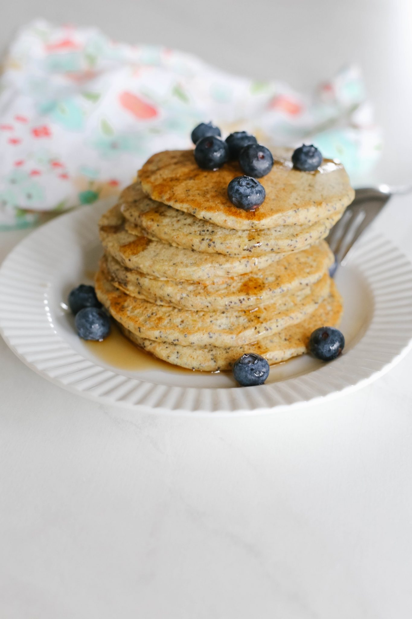 Wholewheat Lemon Poppyseed Pancakes | Mama.Papa.Bubba.