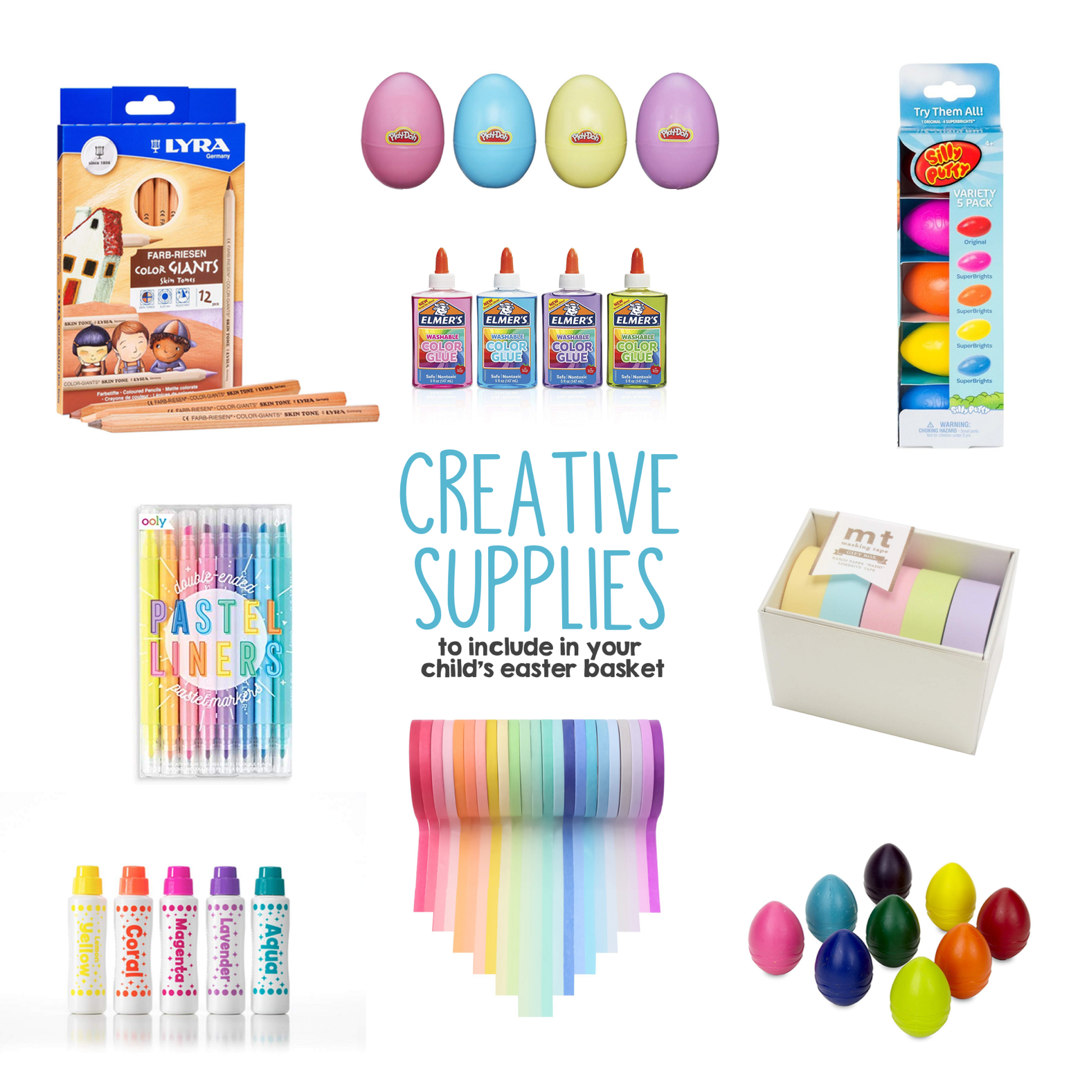 Creative Supplies to Include in Your Child s Easter Basket copy | Mama Papa Bubba