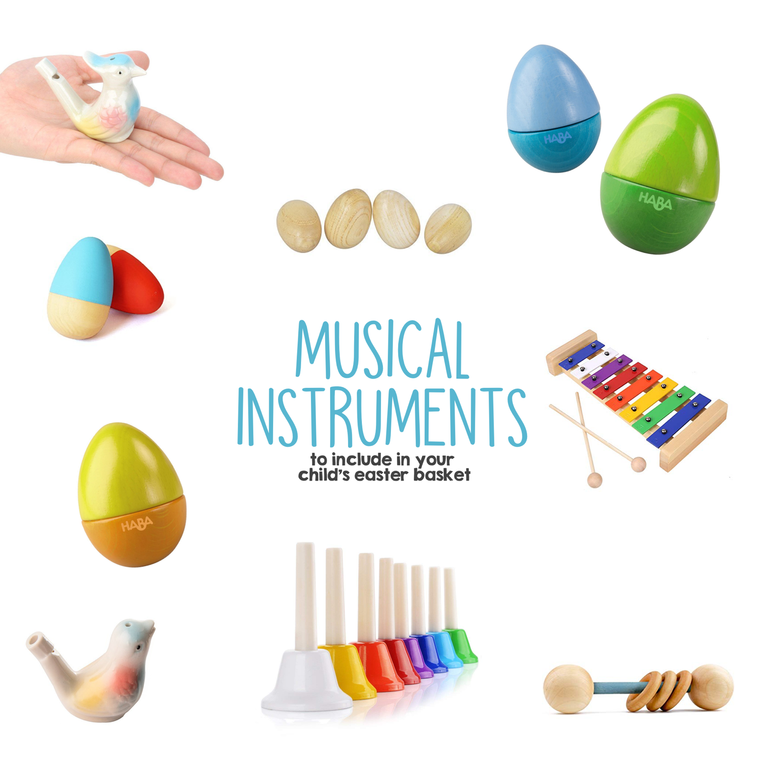 Musical Instruments to Include in Your Child s Easter Basket | Mama Papa Bubba