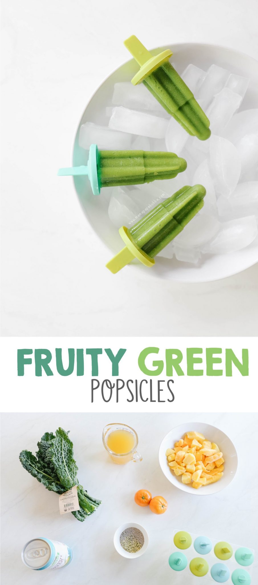 Healthy Fruity Green Popsicles | Mama Papa Bubba