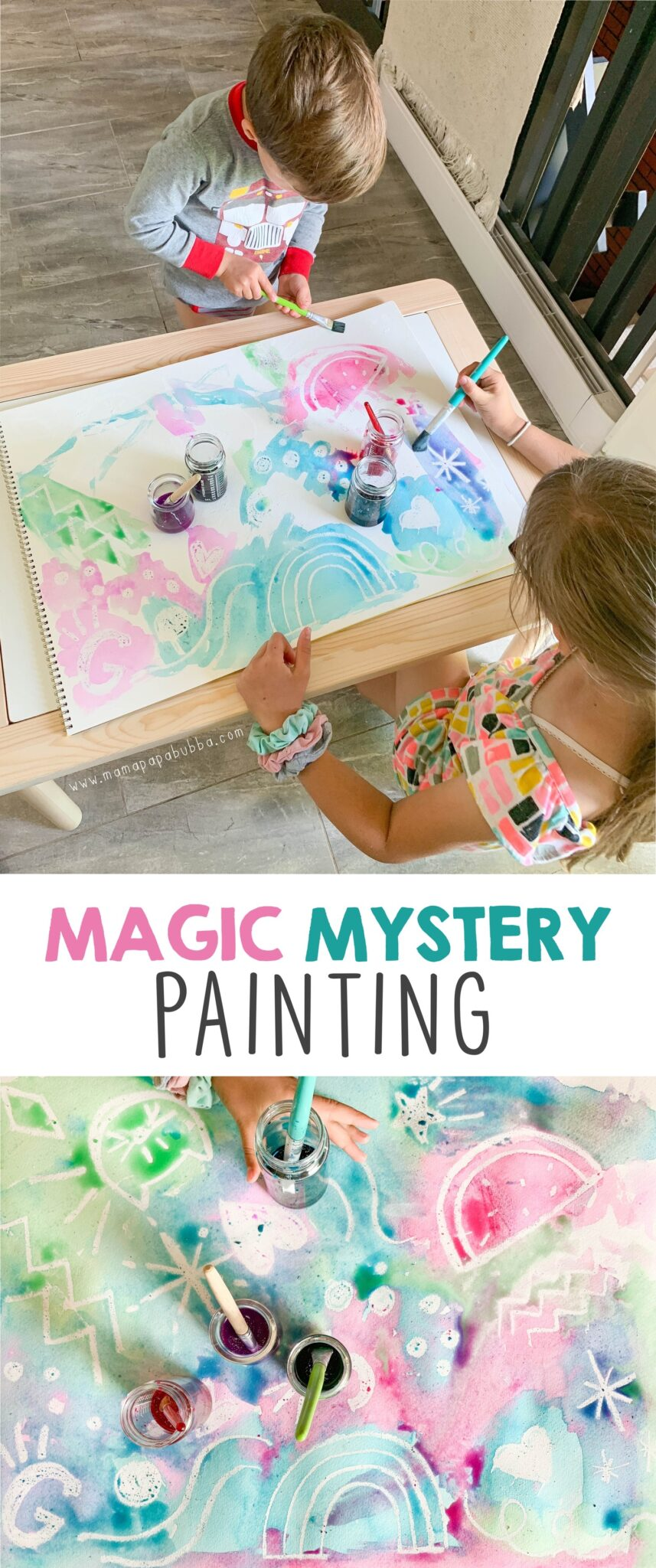 Magic Mystery Painting Activity | Mama Papa Bubba
