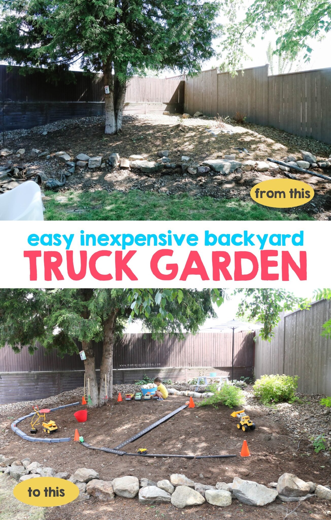Easy Inexpensive Backyard Truck Garden | Mama Papa Bubba