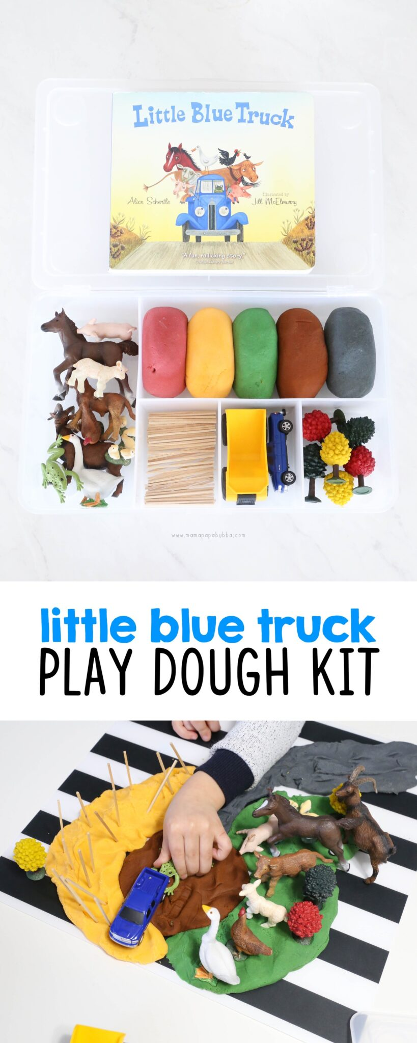 Little Blue Truck Play Dough Kit tall | Mama Papa Bubba
