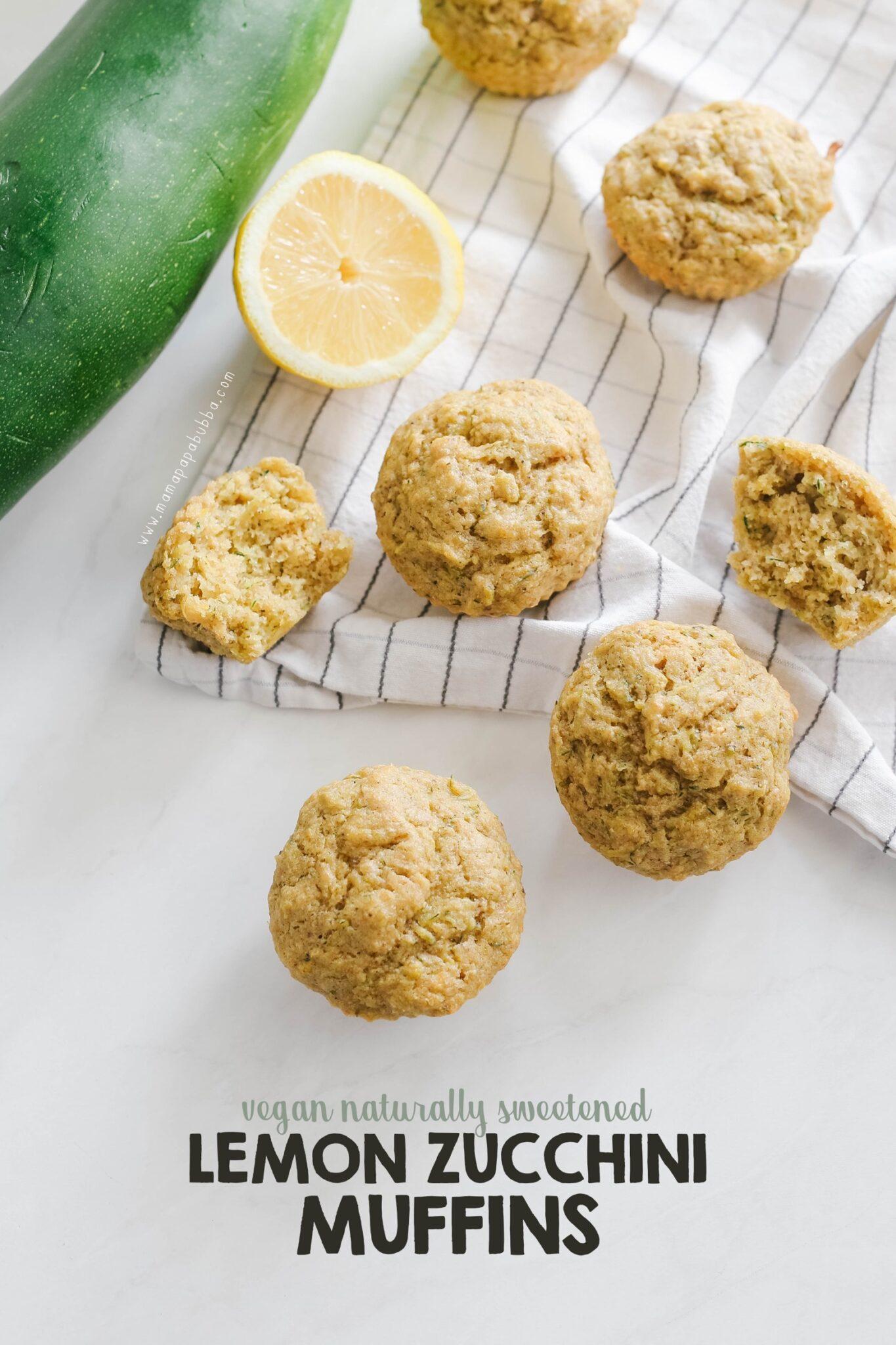 Vegan Lemon Zucchini Muffins | Mama Papa Bubba