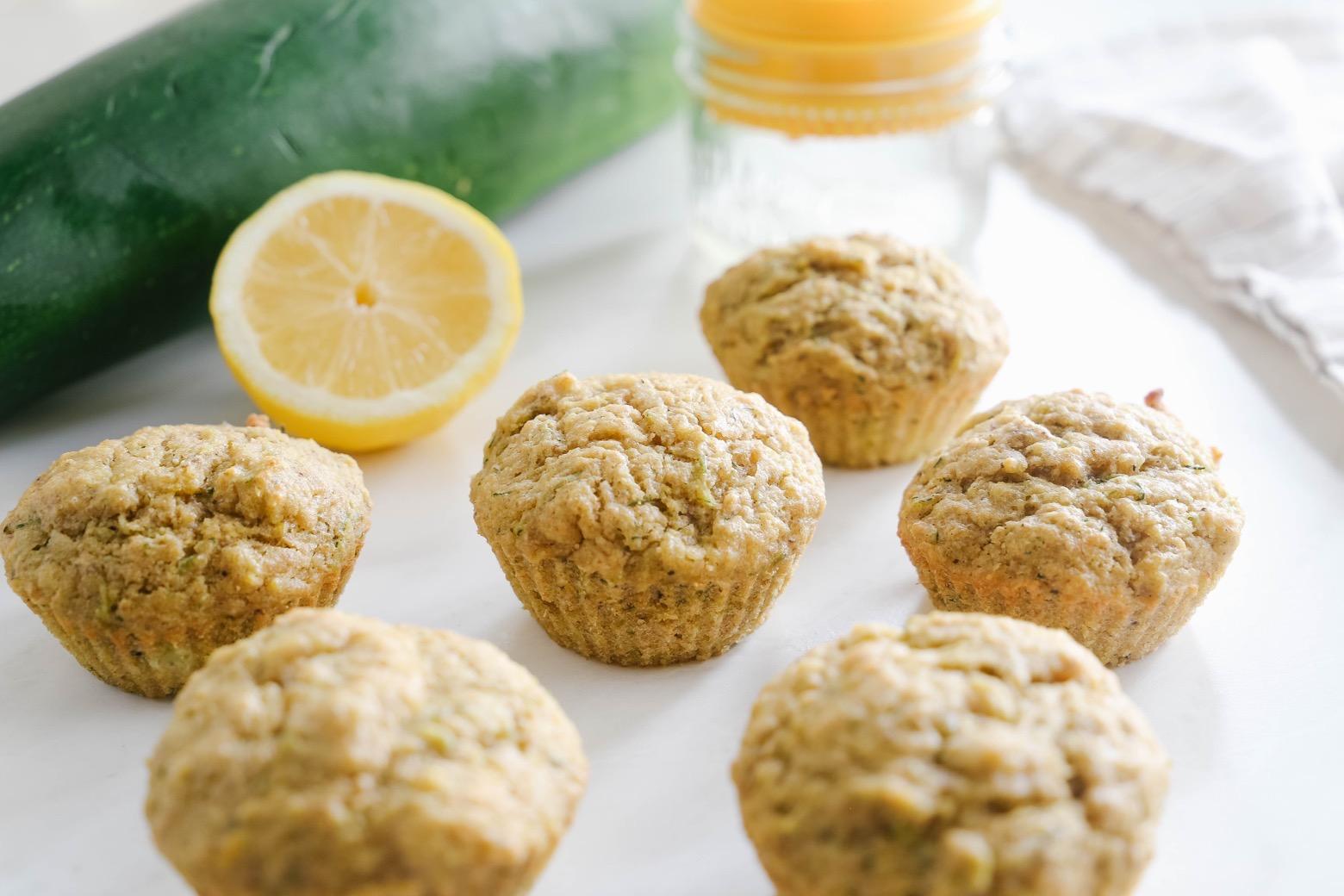 Vegan Lemon Zucchini Muffins | Mama.Papa.Bubba.
