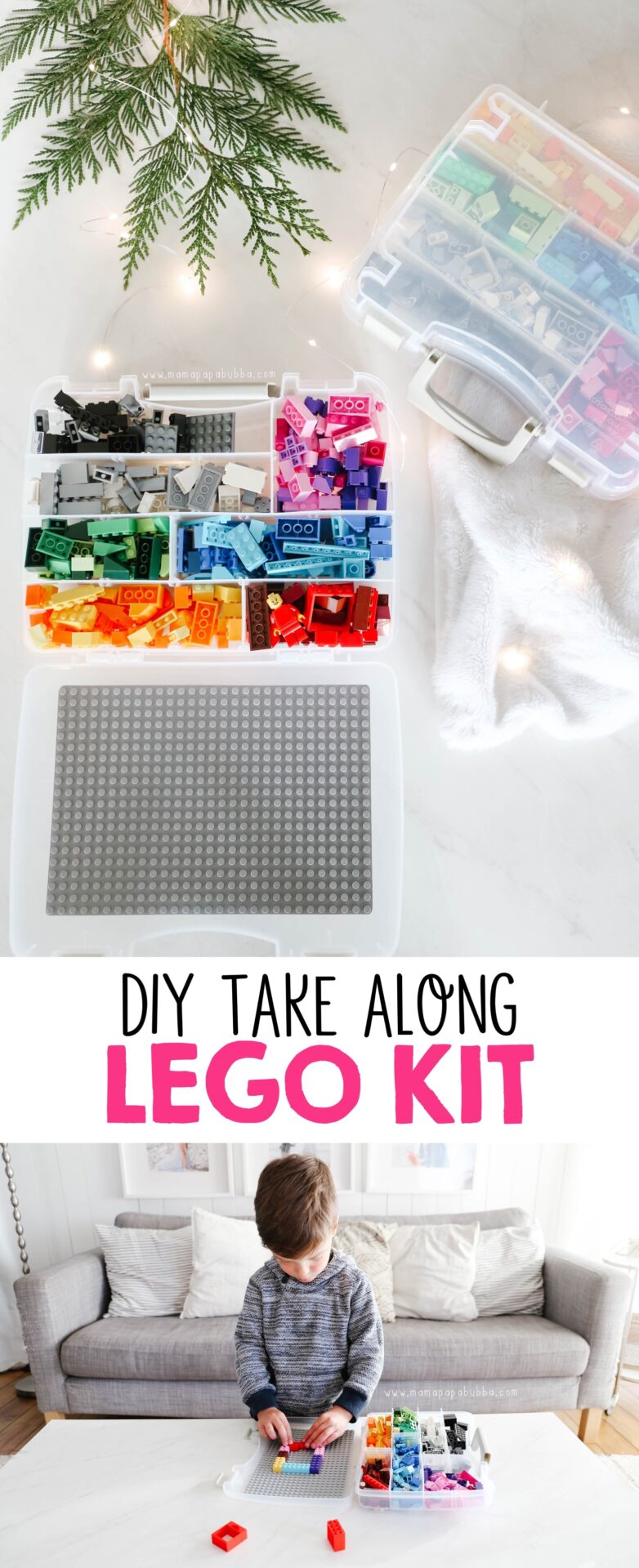Easy DIY LEGO Kit | Mama Papa Bubba