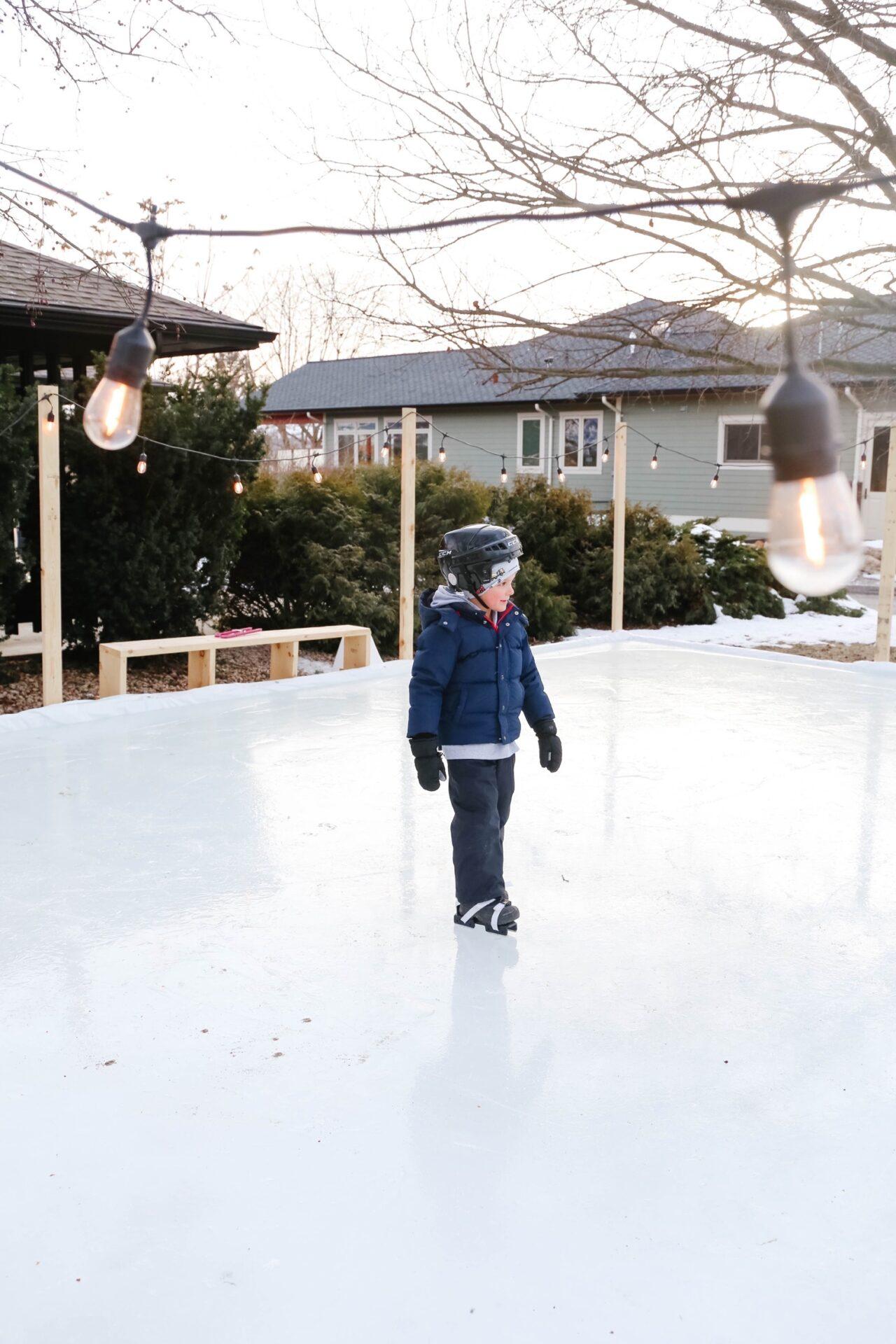 Easy DIY Outdoor Skating Rink | Mama.Papa.Bubba.