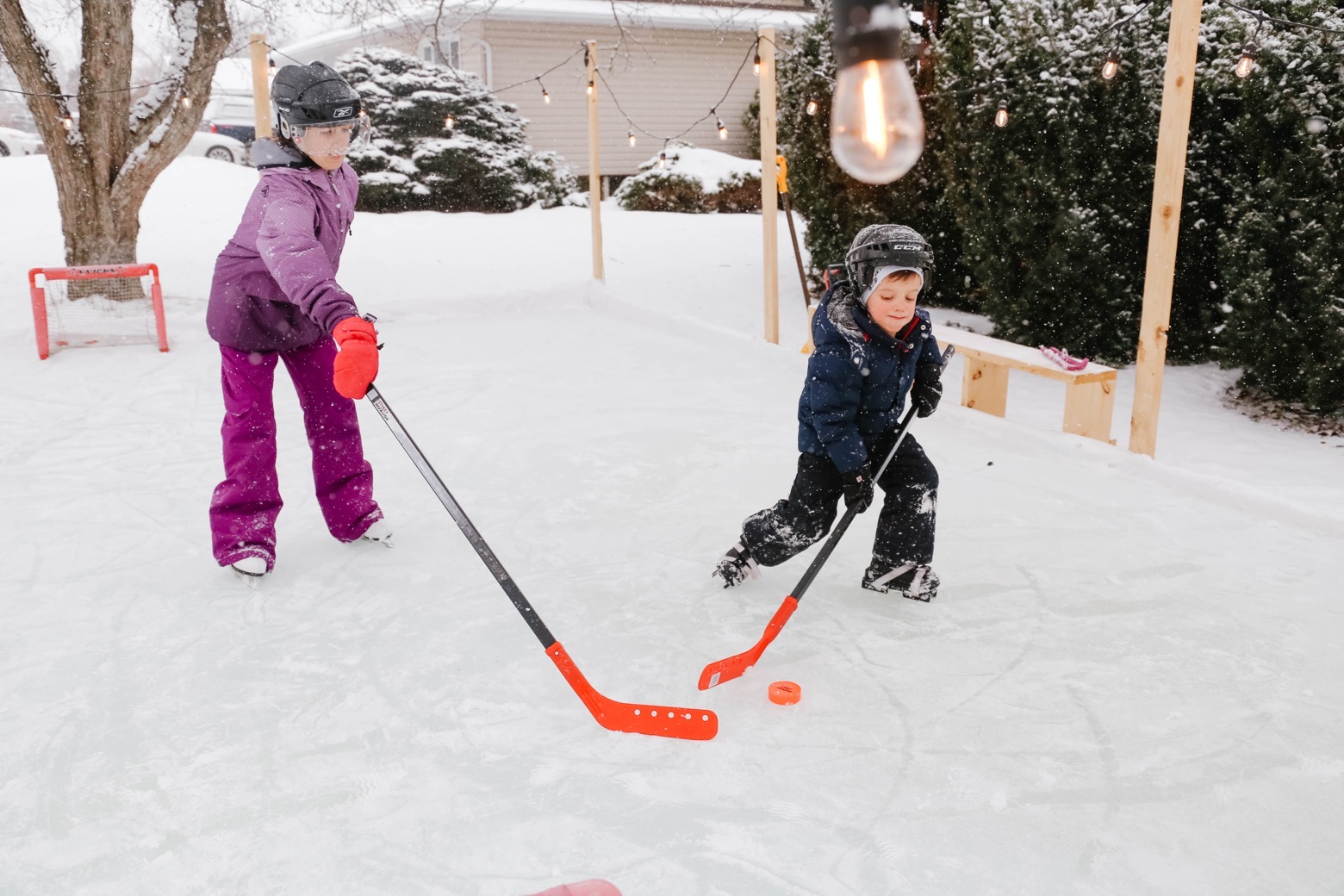 Easy DIY Outdoor Skating Rink | Mama.Papa.Bubba.