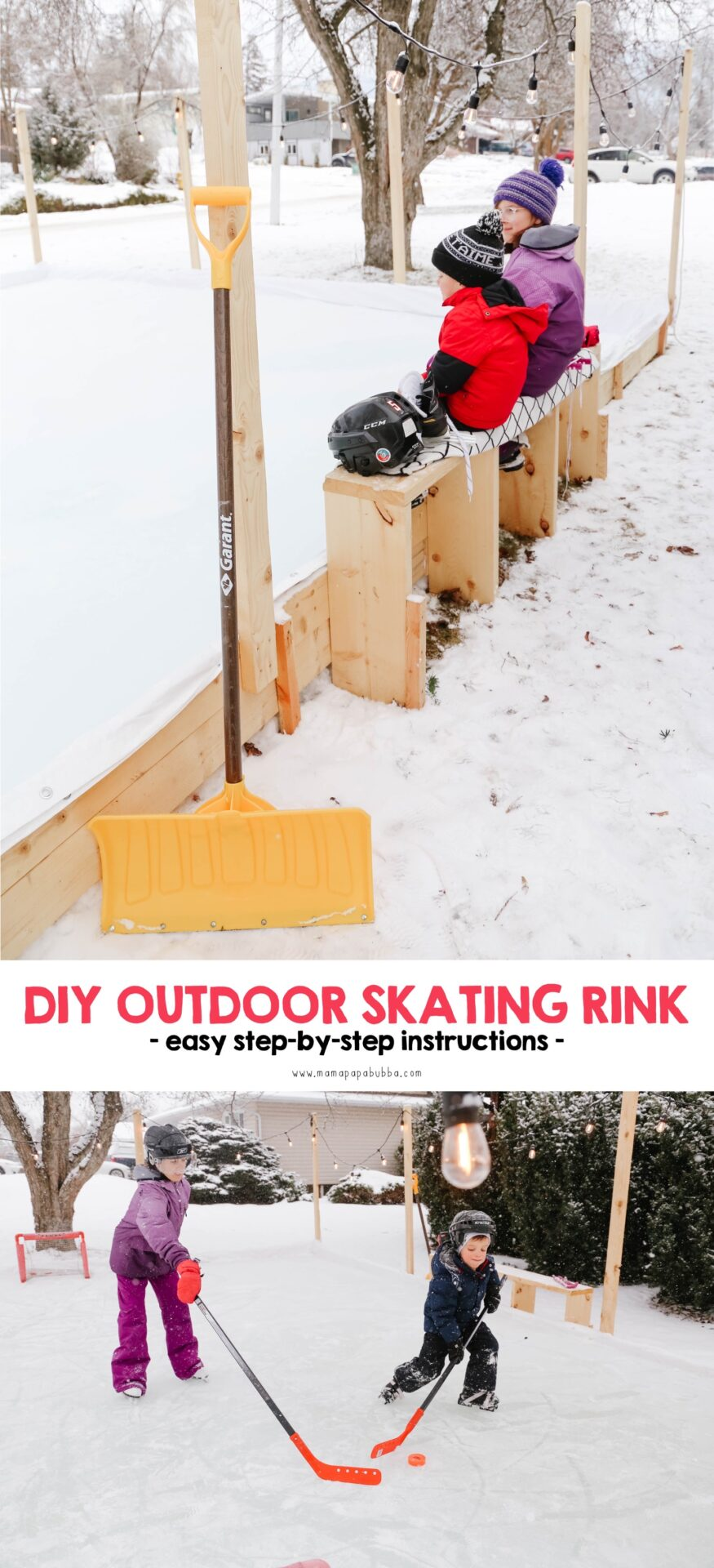 DIY Outdoor Skating Rink | Mama Papa Bubba