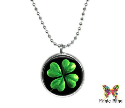 Small Green Clover Pendant St. Patrick's Day