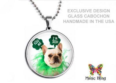 Saint Patrick's Bull Dog Pendant St. Patrick's Day