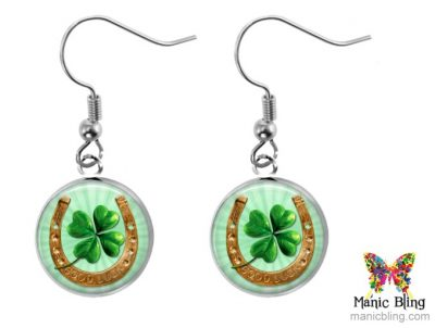 Horseshoe Clover Earrings St. Patrick's Day