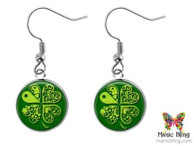 Artistic Clover Dangle Earrings St. Patrick's Day