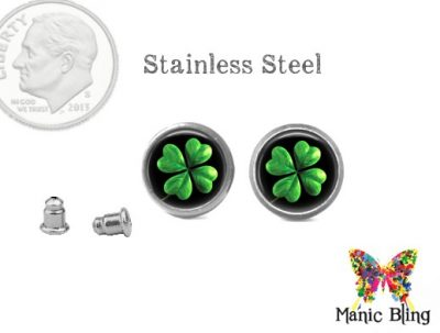 Black Clover Post Earrings St. Patrick's Day