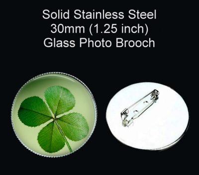 4 Leaf Clover Brooch St. Patrick's Day