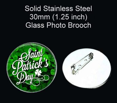 Happy St Patrick's Day Brooch