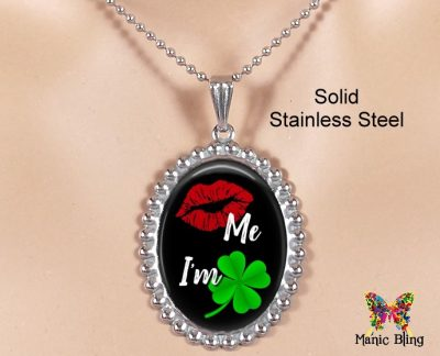 Kiss Me I'm Irish Pendant