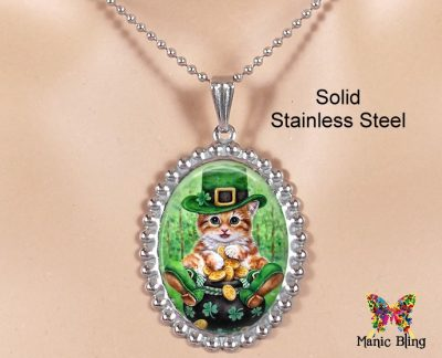 Irish Cat Pendant