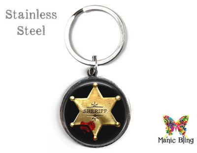 Sheriff Star Keyring Men's Keyrings