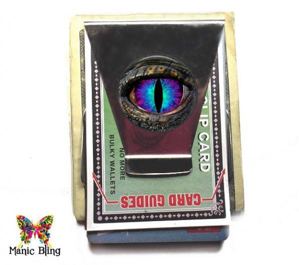 Blue Purple Dragon Eye Money Clip