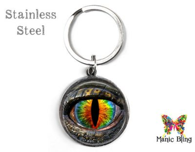 Multi-color Dragon Eye Keyring Men's Keyrings