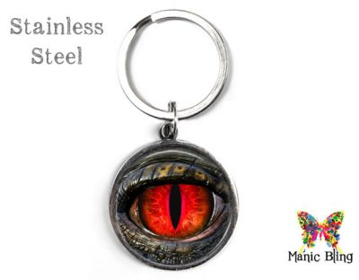 Red Dragon Eye Keyring Men's Keyrings