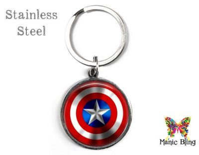 Captain America Keyring Men's Keyrings