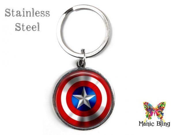 Captain America Keyring Men's Keyrings