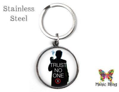 X Files Trust No One Keyring Men's Keyrings