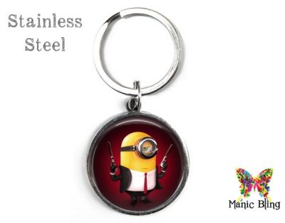Secret Agent Minion Keyring Men's Keyrings