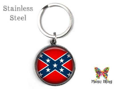 Confederate Flag Keyring Men's Keyrings